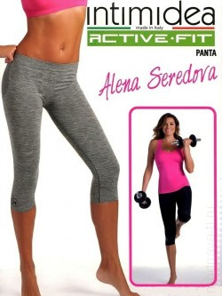 INTIMIDEA ACTIVE FIT DONNA PANTA 3/4 MELANGE