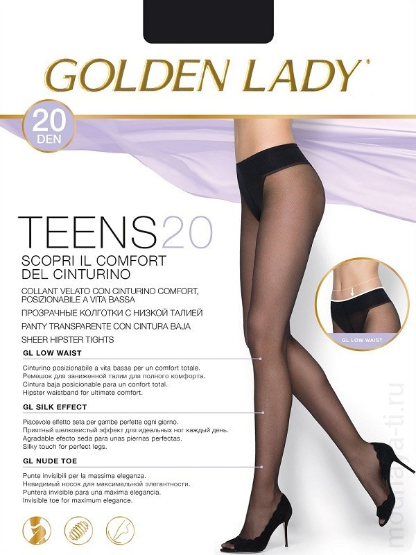 Tights GOLDEN LADY TEENS 20 VITA BASSA