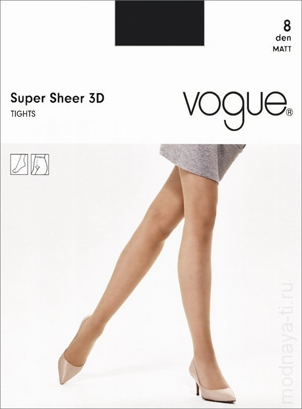 Колготки VOGUE SUPER SHEER 8 3D (95899)