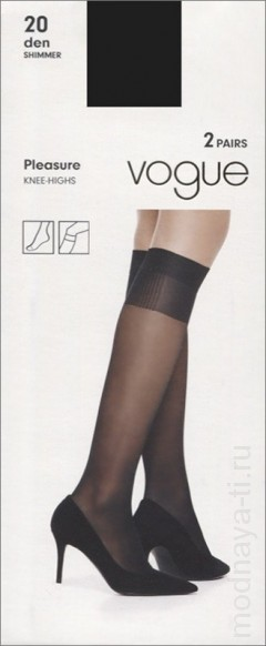 Гольфы VOGUE PLEASURE 20 knee-highs, 2 pairs (95952)