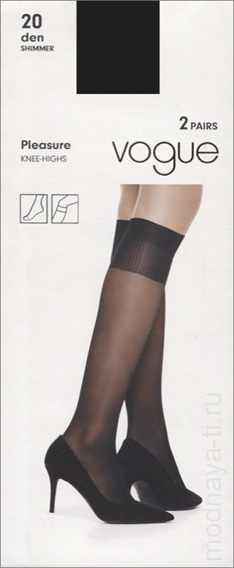 Knee-highs VOGUE PLEASURE 20 knee-highs, 2 pairs (95952)