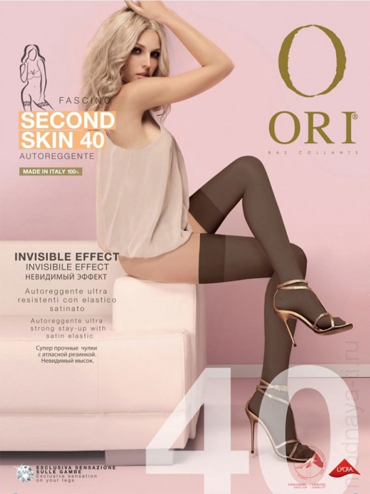 ORI SECOND SKIN 40 autoreggente stockings