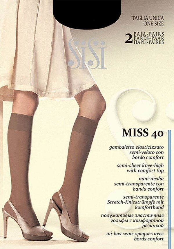 Elastic knee-highs SISI MISS 40 GAMBALETTO
