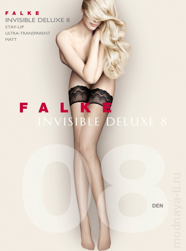 Чулки FALKE 41560 INVISIBLE DELUXE 8 stay-up