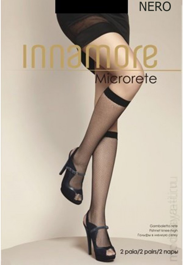 Knee highs INNAMORE MICRORETE GAMBALETTO