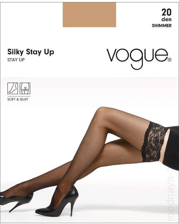 Чулки VOGUE SILKY STAY UP 20 (31299)